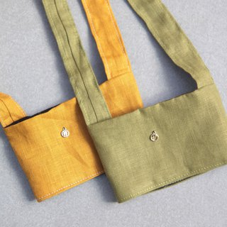 Valentine's Day 1+1 Couple Gift Green Bag Mustard Yellow Matcha Green Japanese Linen