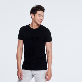 BLACK peach cotton T-shirt Man/Black