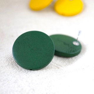 ITS-228 [wooden earrings earrings] good times yellow-green no red