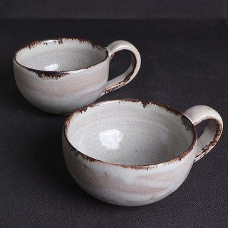 White lovers enamel glaze cup