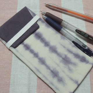 Mumu [vegetation] dye ink dye folder tree dyed purple pencil case, glasses bag