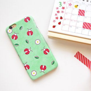 Ladybugs in my backyard iPhone case