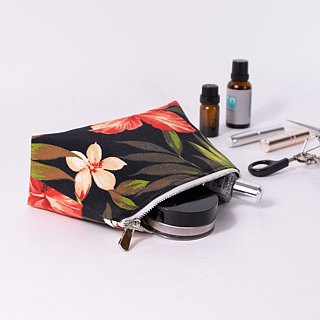 【The MAMA's Closet】Rosa-sinensis / Cosmetic Bag ( Pouch )