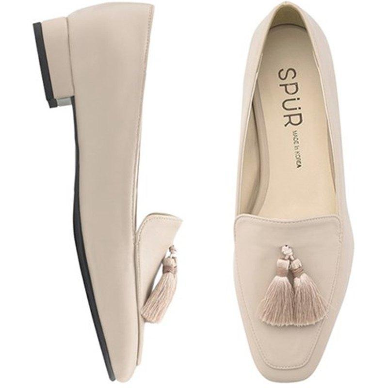 SPUR  幼線流蘇樂福鞋 OS9056 BEIGE