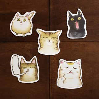 Fighting cat waterproof stickers