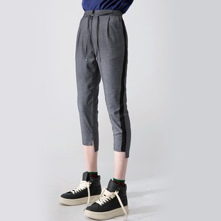 WOMEN SIDE STRIPED ANKLE PANTS