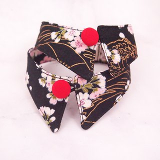 Night moon cherry blossom dog cat button collar