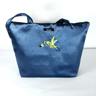 humming- Embroidery Tote Bag / sapphire