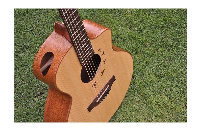 【L.Luthier】Bayou Light S 桃花心木 37寸 全單板旅行吉他