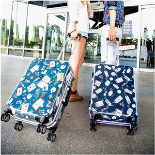 Postmark printed green - handmade printed fashion aluminum frame 20 吋 luggage / suitcase