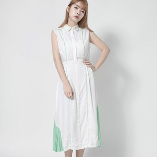Retro Green Hill Vintage Cotton Dress _7SF012_草绿