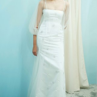 Love Philosophy Bridal Simple Wedding Dress - Long Skirt and Sling Swarovski Beaded Skirt