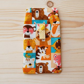 Animal close-up pocket pencil case/document bag