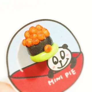 Salmon egg sushi earrings (can change ear clip type) ((full 600 random send mystery small gift))