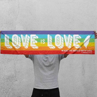 Make World 運動毛巾 (LOVE is LOVE/白色款)