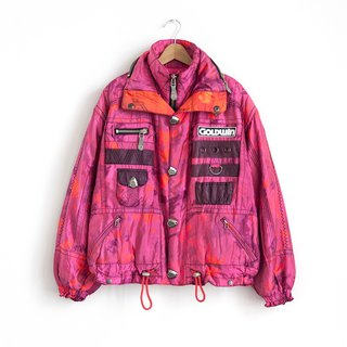 Vintage GOLDWIN pink camouflage double ski coat with a vintage coat