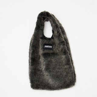 AM0000 ||| dark gray wool Fawcett II handbag faux fur