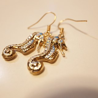 Neptune hippocampus earrings