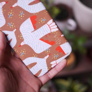 Bird in dress iPhone case