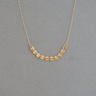 【14KGF】 round disc chain necklace