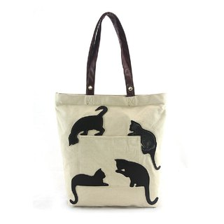 Sleepyville Critters - Black Cat Silhouette Tote Bag  87815CN  spot sale