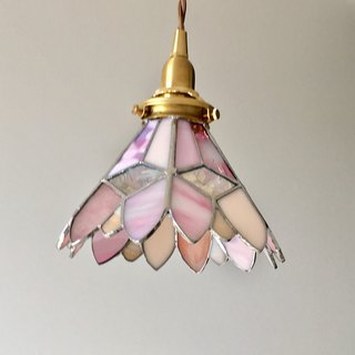 Pendant light Romantic night pink sweet beige glass Bay View
