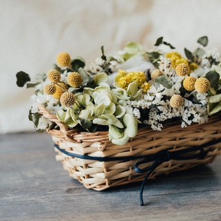 Fleurir blossoming time spring elegant beautiful rattan basket flower ceremony dry flower ceremony / custom flower ceremony