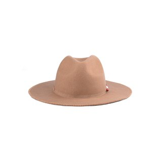 oqLiq - Display in the lost - Shell embroidered line width along gentleman's hat (Camel)