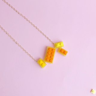 Summer Fun Yellow Geometric Necklace