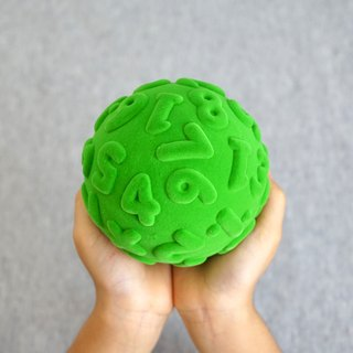 Rubbabu -Biodegradable Green- Soft Safe Natural Rubber Toys  - Numeral -