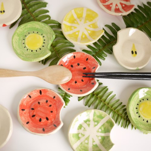 Fruit chopstick rest (watermelon) / fruits cutlery rest 【watermelon】