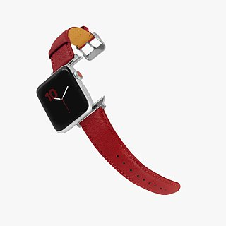 Multicolor Genuine Leather Goatskin Series Macaron Dream Red Apple Watch Apple Watch Strap
