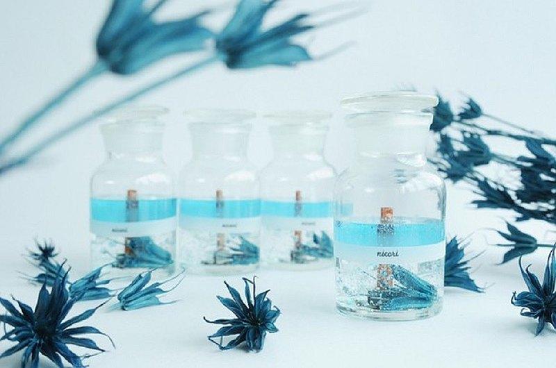 [有聲香薰蠟燭,桉樹檸檬混合,100% 精油,黑種草,藍] BOTANICAL BOTTLE