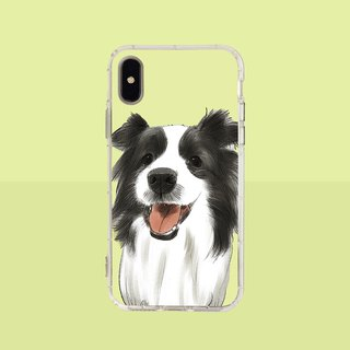 Big face border collie embossed air shell - iPhone / Samsung, HTC.OPPO.ASUS pet phone case