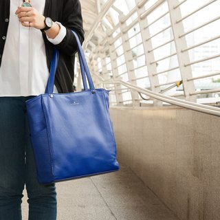 JAXSEN Blue Blue Leather Bag