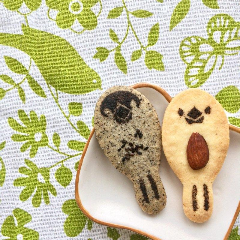 堅果文鳥-造型餅乾 文鳥控 堅果控 小禮物