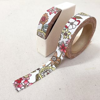 Cloth tape - spring floral [blooming safflower]