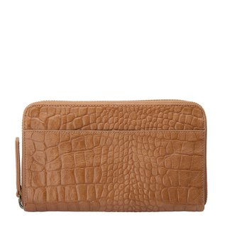 DELILAH Clutch_Tan Croc Emboss / Camel Crocodile Embossed