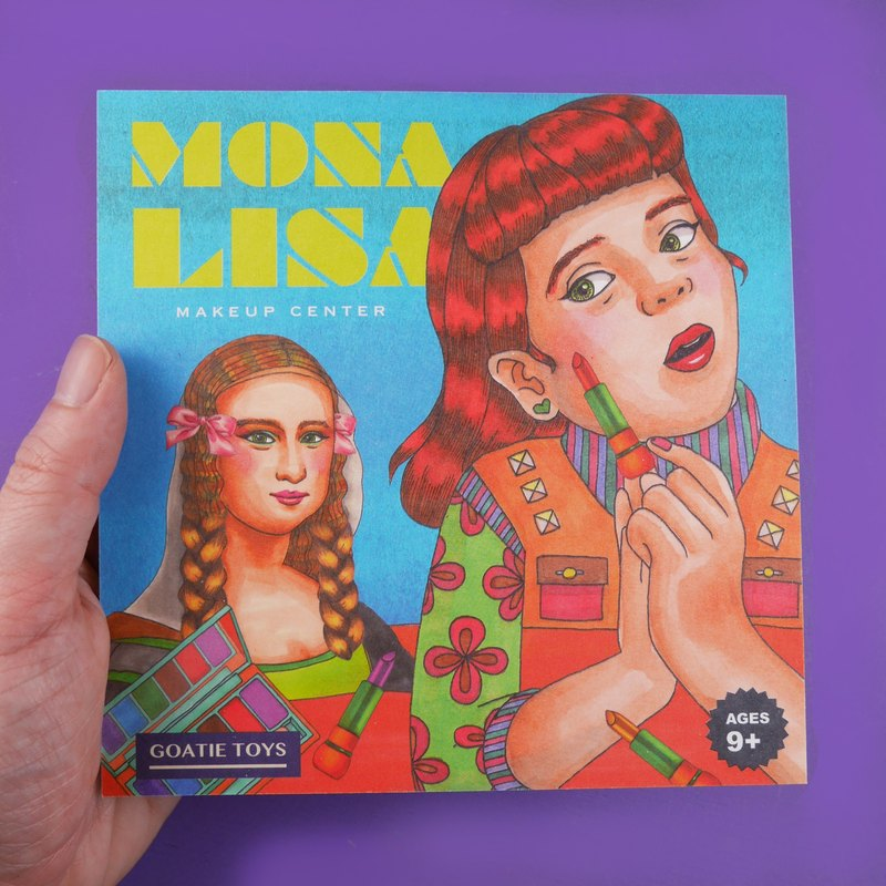Vintage Toys Postcard - Mona Lisa Makeup Center