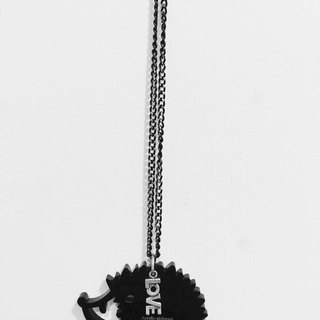 Lectra duck ▲ ▲ hedgehog love necklace / keychain / dual-use \ threw a postcard dogs and cats