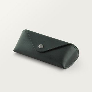 Classic Triangle Glasses Case - Forest Green