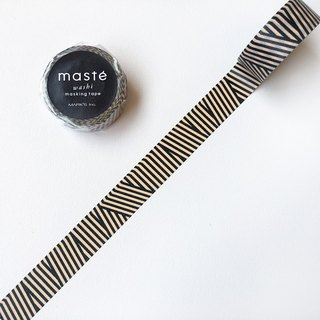 maste and paper tape Multi Pattern 【Multi-color lines - black (MST-MKT185-BK)】
