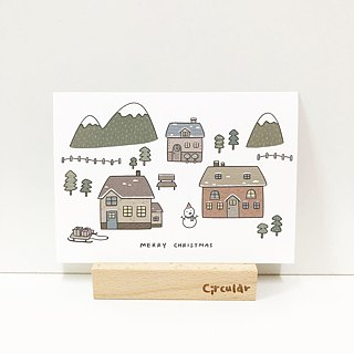 Circular Round Face Man - Animal Party Happy Birthday / Birthday Postcard