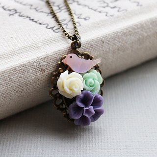 Birds Dream Garden Necklace