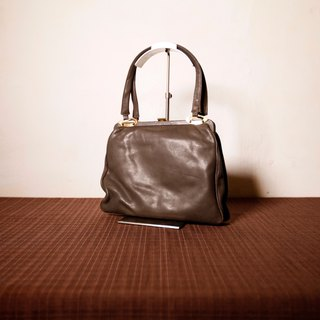 Shika Vintage Bag // leather mouth gold bag / antique bag old leather classic old only this one