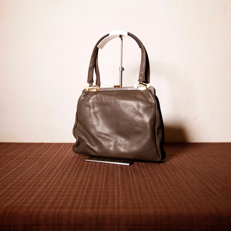 Shika Vintage Bag    leather mouth gold bag   antique bag old leather  classic old only this one - Designer modern-times  b7a12a2791abe