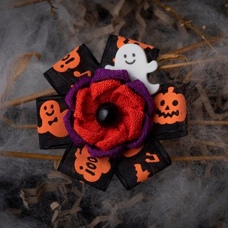 [Halloween limited] つまみ fine work / wind cloth flowers cute 霊 霊 ribbon 髪 pill