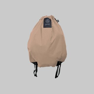 grion waterproof bag - back section (L) latte color