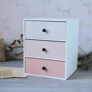 Desktop retro three-piece chest of drawers