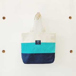 :: :: Bangs tree mixed colors portable small tote bag _ Whitewater blue dark blue